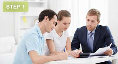 We go over your credit history with you