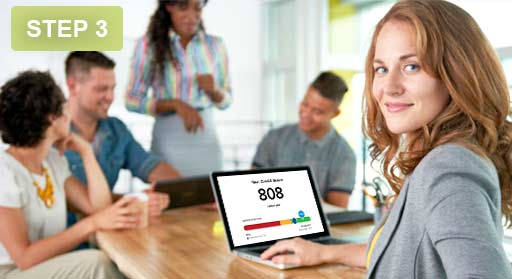 Together we help monitor your credit with you as the credit bureaus release new credit reports